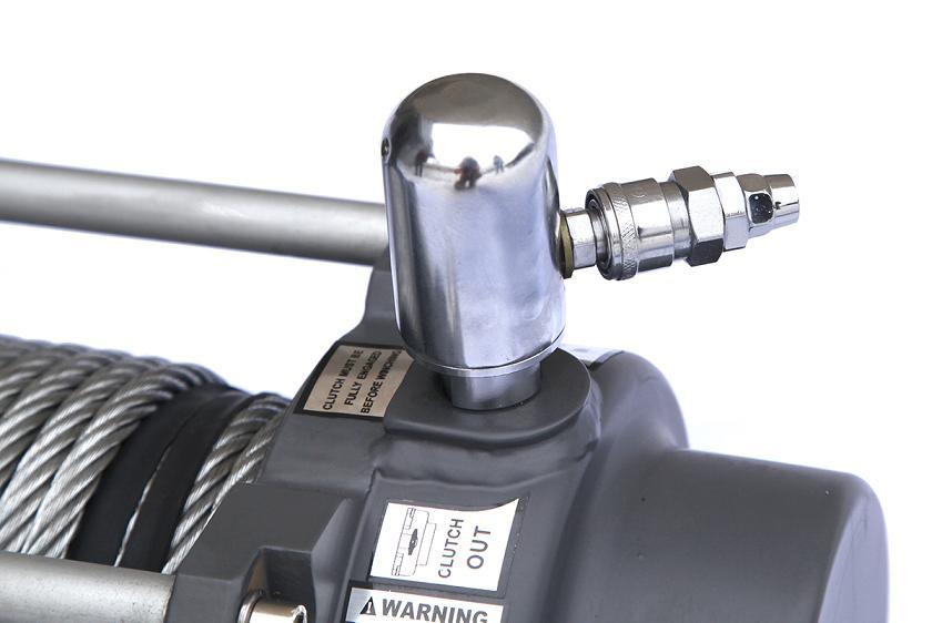 Лебёдка электрическая (индустр.) 24V Runva 15000 lbs 6800 кг (c пневмороспуском)
